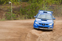 Uriy Volkov drives a Subaru Stock Photography