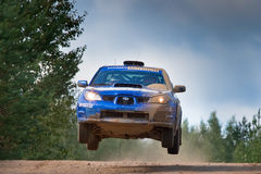 Uriy Volkov drives a Subaru Stock Photos