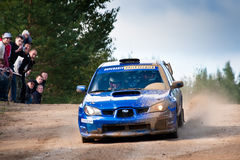Uriy Volkov drives a Subaru Stock Photo