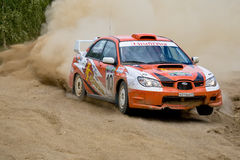 Uriy Volkov drives a Subaru Impreza Stock Images