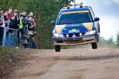 Uriy Volkov drives a Subaru Impreza Stock Image