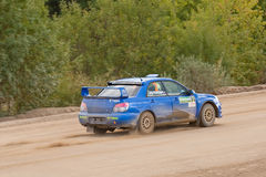 Uriy Volkov drives a Subaru Impreza Royalty Free Stock Photography