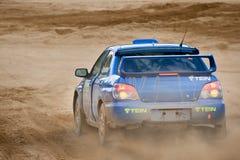 Uriy Volkov drives a Subaru Impreza Stock Images