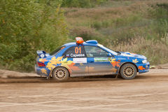 Uriy Volkov drives a Subaru Impreza  car Royalty Free Stock Photography