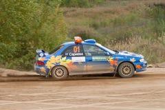 Uriy Volkov drives a Subaru Impreza  car Royalty Free Stock Photography