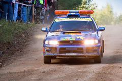Uriy Volkov drives a Subaru Impreza  car Stock Photo