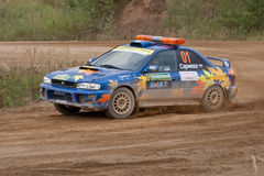 Uriy Volkov drives a Subaru Impreza  car Royalty Free Stock Photo