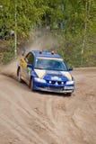Uriy Volkov drives a Subaru Impreza  car Stock Image