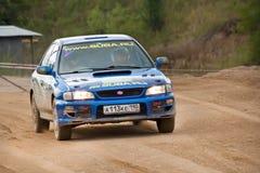 Uriy Volkov drives a Subaru Impreza  car Stock Photography