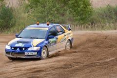 Uriy Volkov drives a Subaru Impreza  car Royalty Free Stock Image