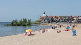 URK- JULY 06: Unknown people are sunbathing and swimming at the Stock Images