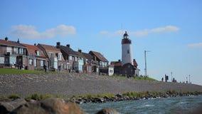 Urk lighthouse timelapse. Time lapse of Urk Lighthouse stock video footage