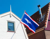 Urk municipality flag Stock Image