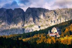 Urkiola sanctuary in Autumn Royalty Free Stock Image