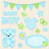 Urklippsbokbeståndsdelar för pojke Royaltyfria Foton