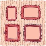 Urklippsboktappningramar för flicka Arkivbild