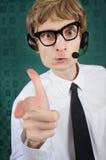 Urkomisch Kundendienst Stockbild