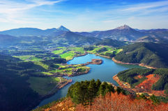 Urkulu reservoir in Basque Country. View of Urkulu reservoir in Basque Country Royalty Free Stock Photo