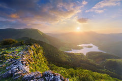 Urkulu reservoir in Basque Country Stock Image