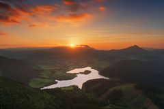 Urkulu reservoir in Basque Country Royalty Free Stock Images