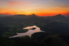 Urkulu reservoir in Basque Country Stock Photography