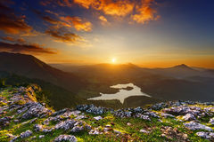 Urkulu reservoir in Basque Country Royalty Free Stock Photos