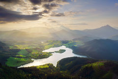 Urkulu reservoir in Basque Country Royalty Free Stock Image