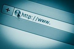 URL del Internet Imagen de archivo libre de regalías