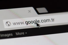 URL di Home Page di Google Fotografie Stock Libere da Diritti