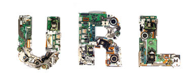 Url electronic Stock Image