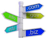 URL Signpost Shows WWW. Addresses Royalty Free Stock Images