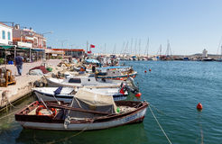 Urla harbor, Izmir Province, Turkey Stock Images