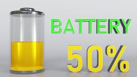Urladdning av batteriindikatorn vektor illustrationer