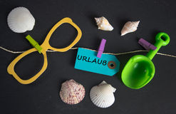 Urlaub -德语为假期 库存图片
