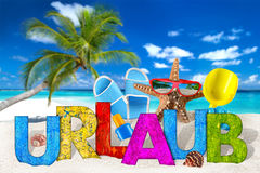 Urlaub/accessoire de vacances sur la plage tropicale de paradis photo libre de droits