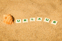 Urlaub, German word, letters Stock Images