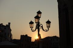 Sunset in Venice. Italy royalty free stock photography