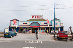 Urlauber Teignmouth-Pier Devon England Großbritannien stockfoto