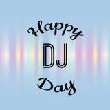 Urlaubsgrüßeillustration Welttag DJ Lizenzfreie Stockfotos