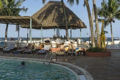 Urlaubshotel auf Sansibar-Insel Stockbild