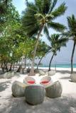 Urlaubsinsel bei den Malediven Lizenzfreie Stockfotografie