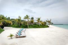 Urlaubsinsel bei den Malediven Stockfoto