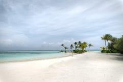 Urlaubsinsel bei den Malediven Stockbild