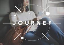 Urlaubsreise-Reise-Reise-Ausweis-Aufkleber-Konzept Stockfoto