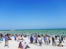 Urlaubsspaß am Strand des Indischen Ozeans Mombasa Lizenzfreies Stockbild