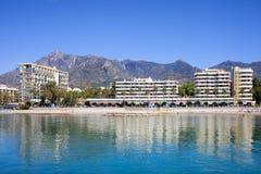 Urlaubsstadt von Marbella in Spanien Stockfotografie