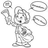 Urlo del ragazzo di carta del fumetto profilo Immagini Stock Libere da Diritti