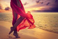 Urlopowa plaża Zdjęcia Royalty Free