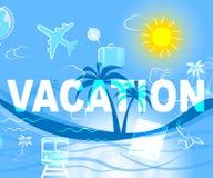 Urlopowa podróż Wskazuje podróży Vacational I wjazd royalty ilustracja