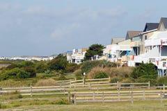 Urlopowi plażowi domy Obrazy Royalty Free